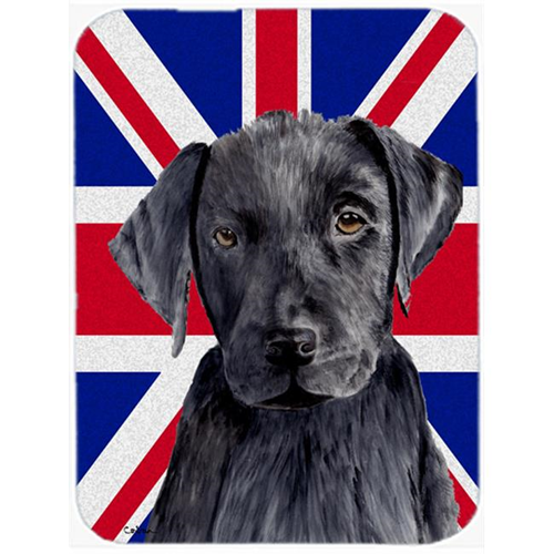 Carolines Treasures SC9821MP 7.75 x 9.25 In. Labrador With English Union Jack British Flag Mouse Pad Hot Pad Or Trivet