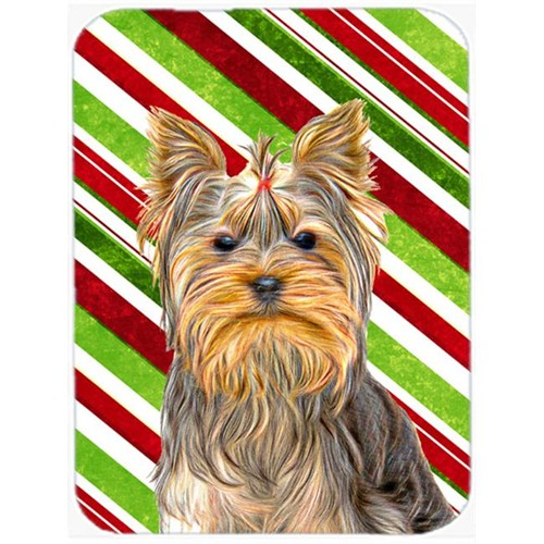 Carolines Treasures KJ1170MP Candy Cane Holiday Christmas Yorkie & Yorkshire Terrier Mouse Pad Hot Pad or Trivet