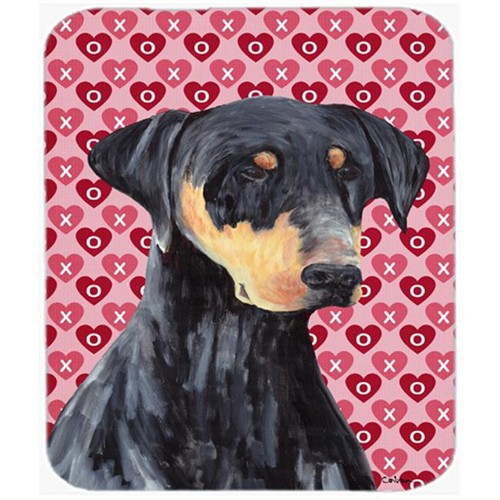 Carolines Treasures SC9262MP Doberman Hearts Love And Valentines Day Portrait Mouse Pad Hot Pad Or Trivet