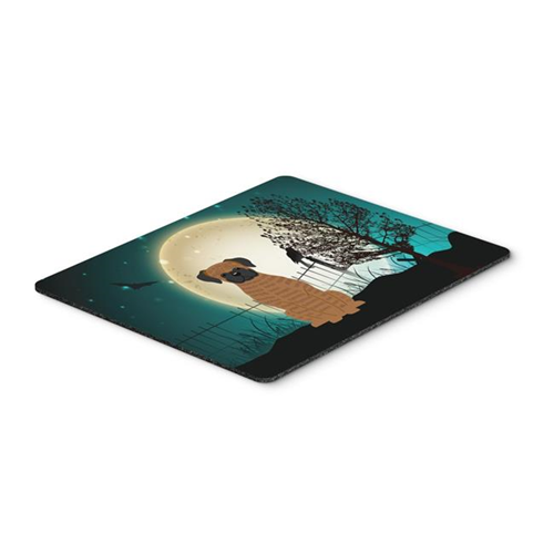 Carolines Treasures BB2307MP Halloween Scary Brindle Boxer Mouse Pad Hot Pad or Trivet