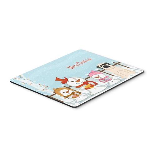 Carolines Treasures BB2348MP Merry Christmas Carolers Mastiff White Mouse Pad Hot Pad or Trivet