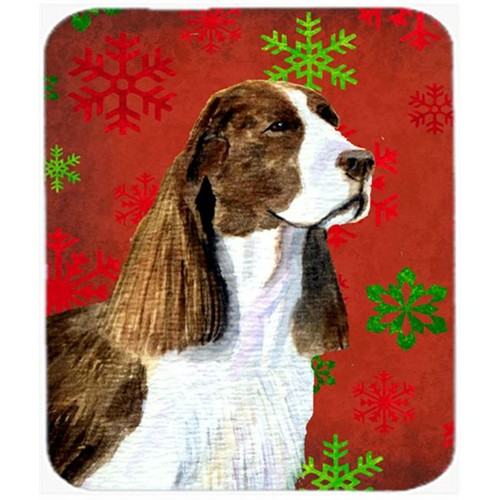 Carolines Treasures SS4720MP Springer Spaniel Snowflakes Holiday Christmas Mouse Pad Hot Pad or Trivet