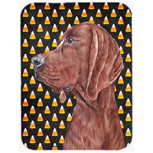 Carolines Treasures SC9659MP Redbone Coonhound Candy Corn Halloween Mouse Pad Hot Pad Or Trivet 7.75 x 9.25 In.