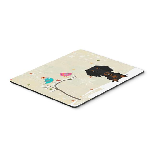 Carolines Treasures BB2599MP Christmas Presents Between Friends Wire Haired Dachshund Black & Tan Mouse Pad Hot Pad or Trivet