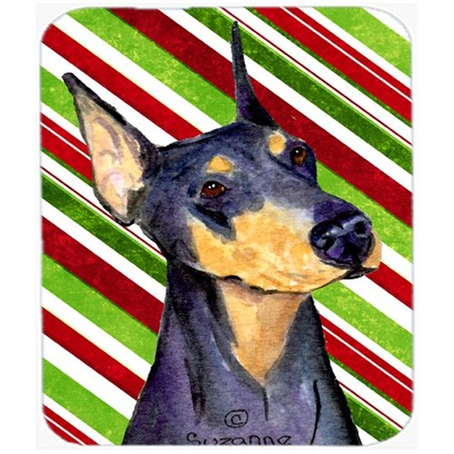 Carolines Treasures SS4564MP Doberman Candy Cane Holiday Christmas Mouse Pad Hot Pad Or Trivet