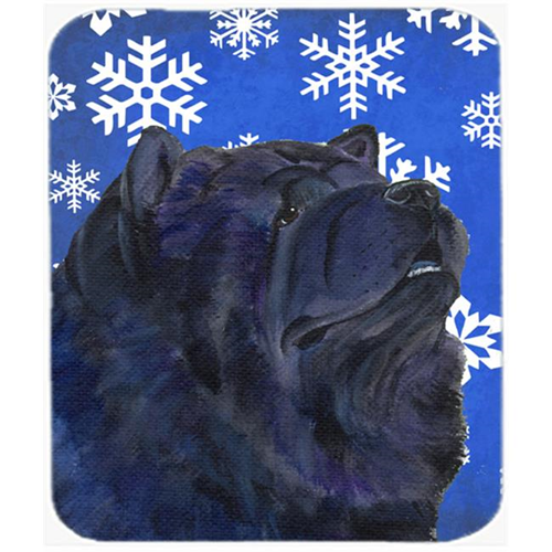 Carolines Treasures SS4639MP Chow Chow Winter Snowflakes Holiday Mouse Pad Hot Pad or Trivet