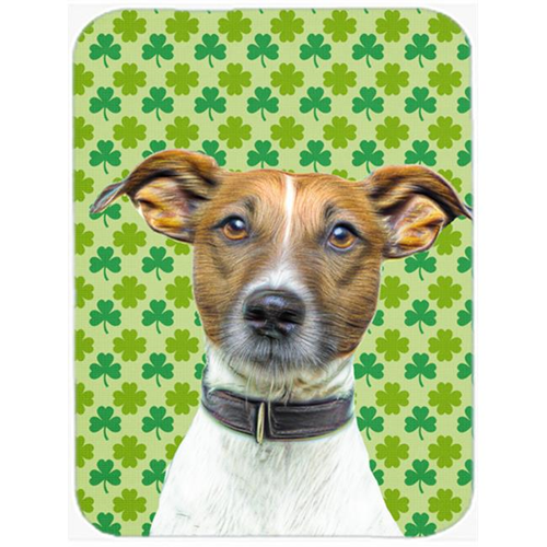 Carolines Treasures KJ1197MP St. Patricks Day Shamrock Jack Russell Terrier Mouse Pad Hot Pad or Trivet