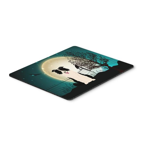 Carolines Treasures BB2308MP Halloween Scary Border Collie Black & White Mouse Pad Hot Pad or Trivet