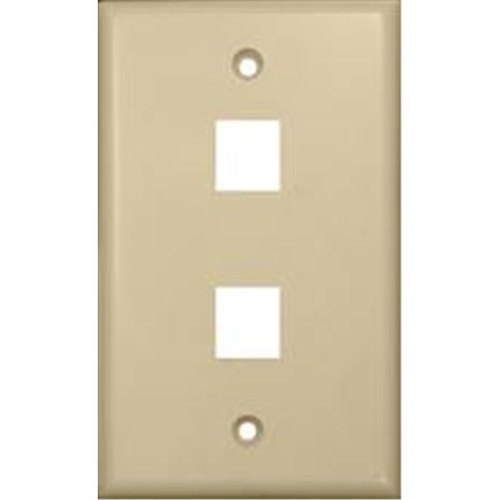 Morris Products 88144 Wallplate For Keystone Jacks And Modular Inserts Two Ports Ivory