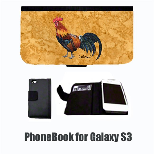 Carolines Treasures 8651-NBGALAXYS3 Bird Rooster Cell Phonebook Cell Phone case Cover for GALAXY S3
