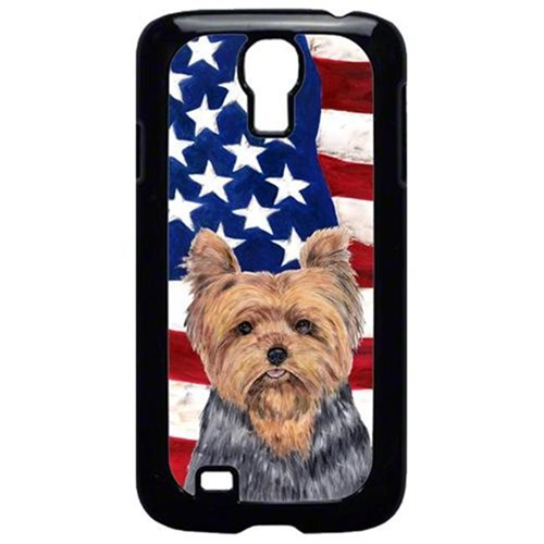 Carolines Treasures SC9111GALAXYS4 USA American Flag with Yorkie Cell Phone Cover GALAXY S4