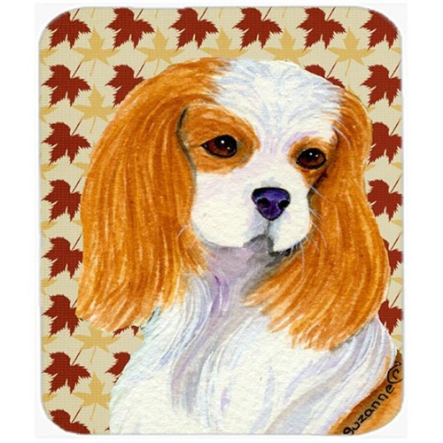 Carolines Treasures SS4329MP Cavalier Spaniel Fall Leaves Portrait Mouse Pad Hot Pad Or Trivet