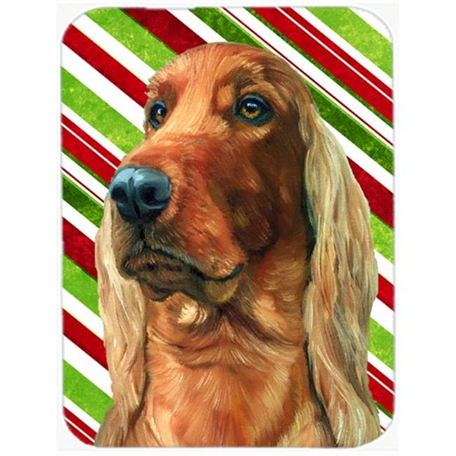 Carolines Treasures LH9590MP Irish Setter Candy Cane Holiday Christmas Mouse Pad Hot Pad & Trivet