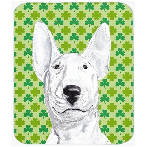 Carolines Treasures SC9576MP 7.75 x 9.25 In. Bull Terrier St Patricks Irish Mouse Pad Hot Pad or Trivet
