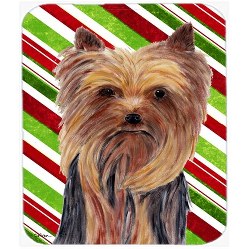 Carolines Treasures SC9325MP Yorkie Candy Cane Holiday Christmas Mouse Pad Hot Pad or Trivet