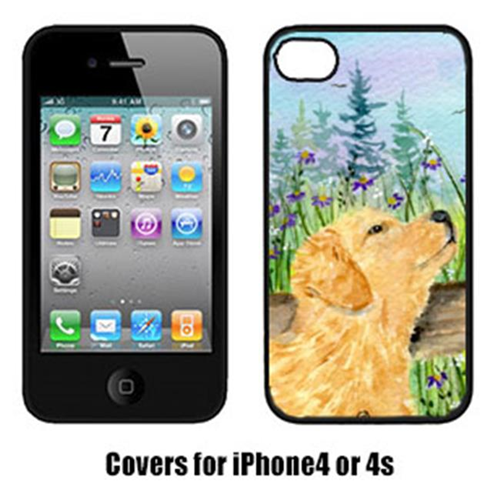 Carolines Treasures SS8883IP4 Golden Retriever Cell Phone Cover Iphone4