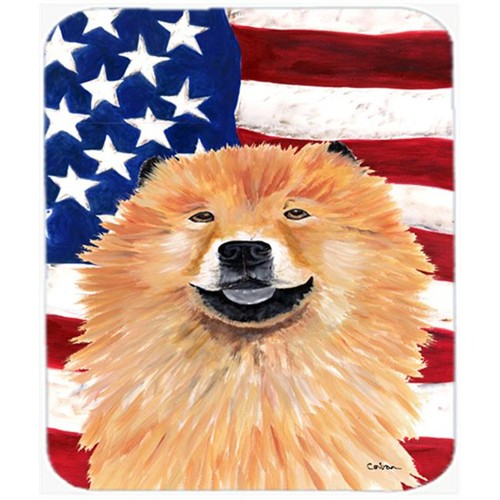 Carolines Treasures SC9025MP Usa American Flag With Chow Chow Mouse Pad Hot Pad Or Trivet