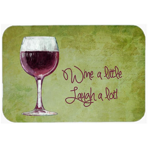 Carolines Treasures SB3067MP 7.75 x 9.25 In. Wine A Little Laugh A Lot Mouse Pad Hot Pad Or Trivet