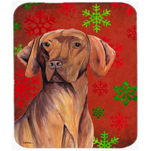 Carolines Treasures SC9418MP Vizsla Red And Green Snowflakes Holiday Christmas Mouse Pad Hot Pad Or Trivet