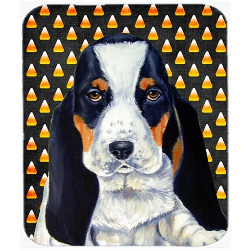 Carolines Treasures LH9070MP Basset Hound Candy Corn Halloween Portrait Mouse Pad Hot Pad or Trivet