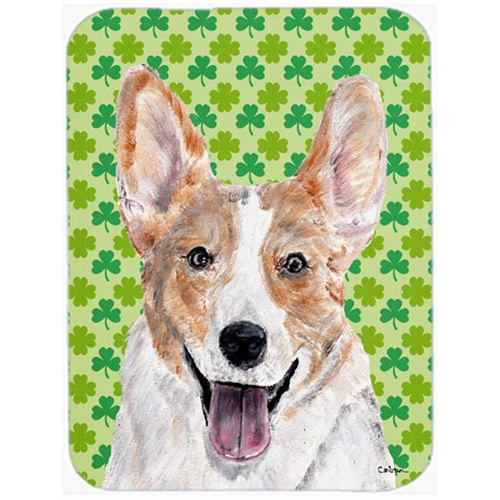 Carolines Treasures SC9720MP Cardigan Corgi Lucky Shamrock St. Patricks Day Mouse Pad Hot Pad Or Trivet 7.75 x 9.25 In.
