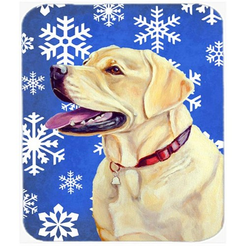Carolines Treasures LH9293MP Labrador Winter Snowflakes Holiday Mouse Pad Hot Pad Or Trivet