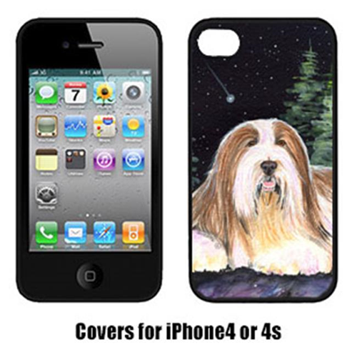 Carolines Treasures SS8529IP4 Starry Night Bearded Collie Iphone4 Cover
