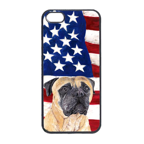 Carolines Treasures SC9031IP4 USA American Flag With Mastiff Iphone 4 Cover