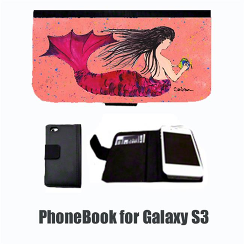 Carolines Treasures 8338-NBGALAXYS3 Mermaid Black Hair Mermaid Cell Phonebook Cell Phone case Cover for GALAXY S3
