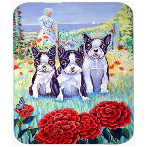 Carolines Treasures 7005MP 9.5 x 8 in. Boston Terrier Three in a Row Mouse Pad Hot Pad or Trivet