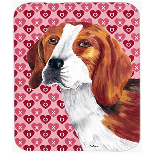 Carolines Treasures SC9270MP Beagle Hearts Love And Valentines Day Portrait Mouse Pad Hot Pad Or Trivet