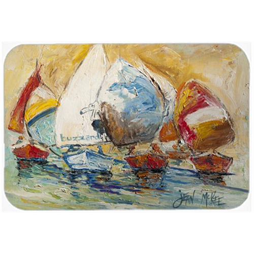 Carolines Treasures JMK1037MP Buzzards Sailboat Race Mouse Pad Hot Pad & Trivet