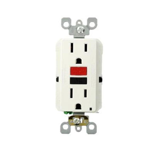 Leviton Mfg R72-GFNT1-0RW 15 AMP 125 Volt Duplex Self-Test Slim GFCI Outlet White