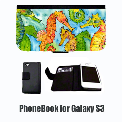 Carolines Treasures 8546-NBGALAXYS3 Seahorse Cell Phonebook Cell Phone case Cover for GALAXY S3