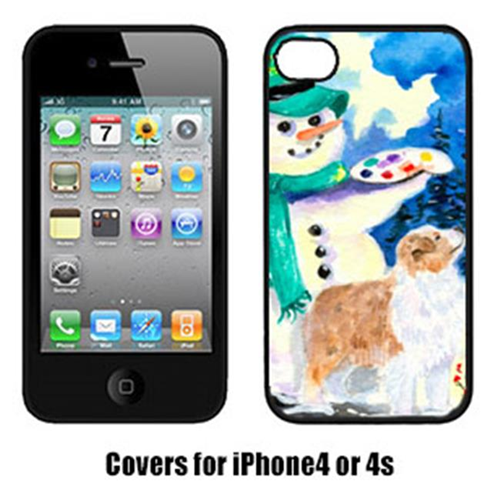 Carolines Treasures SS8996IP4 Snowman With Australian Shepherd Cell Phone Cover Iphone4
