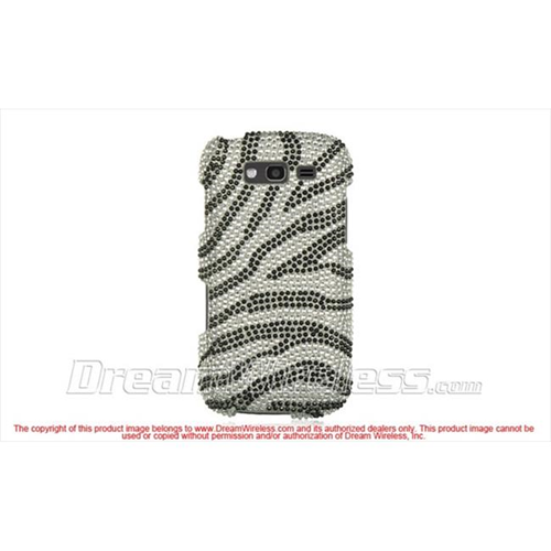 DreamWireless FDSAMBLAZESLZ Samsung Galaxy Blaze 4G Full Diamond Case Silver Zebra