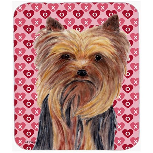Carolines Treasures SC9274MP Yorkie Hearts Love And Valentines Day Portrait Mouse Pad Hot Pad Or Trivet