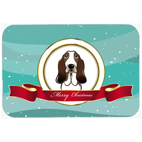 Carolines Treasures BB1553MP Basset Hound Merry Christmas Mouse Pad Hot Pad & Trivet
