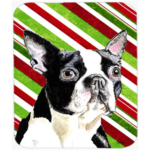 Carolines Treasures SC9320MP Boston Terrier Candy Cane Holiday Christmas Mouse Pad Hot Pad or Trivet