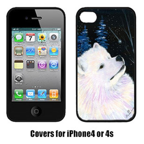Carolines Treasures SS8376IP4 Starry Night Samoyed Cell Phone cover IPhone 4