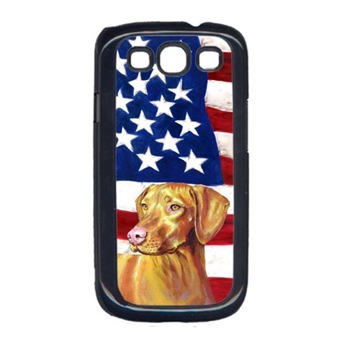 Carolines Treasures LH9012GALAXYS3 USA American Flag with Vizsla Cell Phone Cover GALAXY S111
