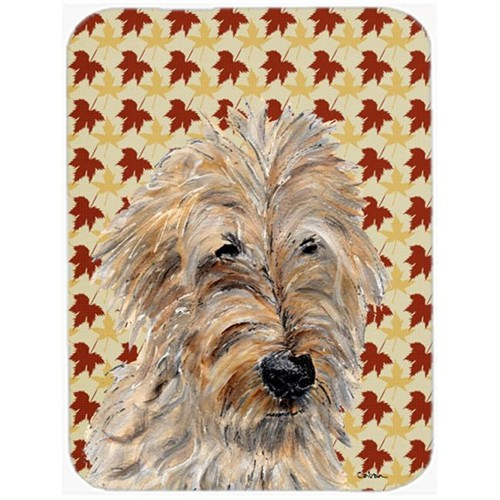 Carolines Treasures SC9691MP Golden Doodle 2 Fall Leaves Mouse Pad Hot Pad Or Trivet 7.75 x 9.25 In.