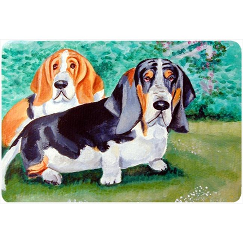 Carolines Treasures 7061MP Basset Hound Double Trouble Mouse Pad Hot Pad Or Trivet