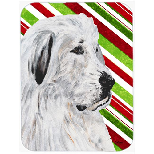 Carolines Treasures SC9810MP Great Pyrenees Candy Cane Christmas Mouse Pad Hot Pad Or Trivet 7.75 x 9.25 In.