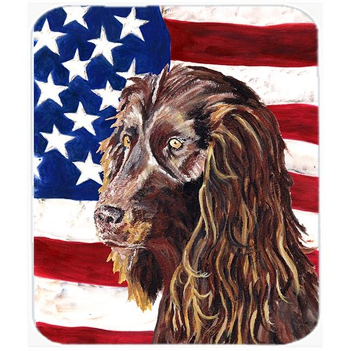 Carolines Treasures SC9518MP 7.75 x 9.25 In. Boykin Spaniel USA American Flag Mouse Pad Hot Pad or Trivet