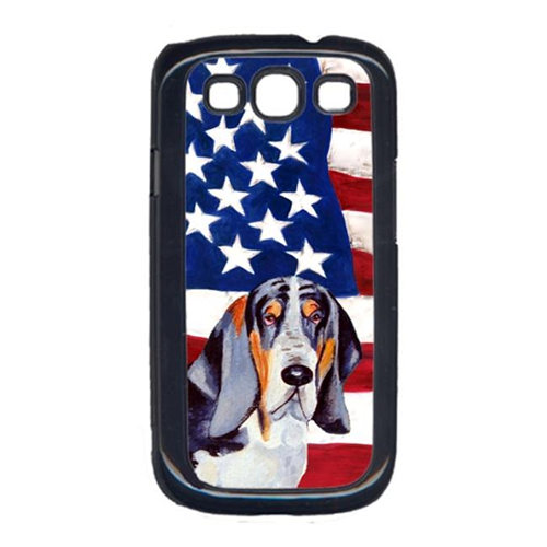 Carolines Treasures LH9014GALAXYS3 USA American Flag with Basset Hound Cell Phone Cover GALAXY S111
