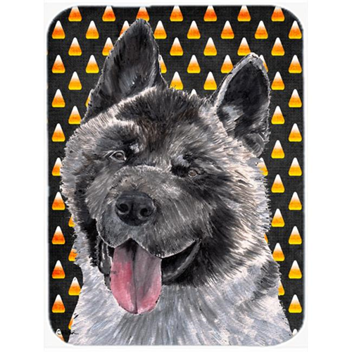 Carolines Treasures SC9486MP 7.75 x 9.25 In. Akita Candy Corn Halloween Mouse Pad Hot Pad Or Trivet