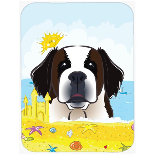 Carolines Treasures BB2114MP Saint Bernard Summer Beach Mouse Pad Hot Pad or Trivet