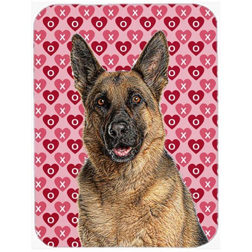 Carolines Treasures KJ1194MP Hearts Love and Valentines Day German Shepherd Mouse Pad Hot Pad or Trivet