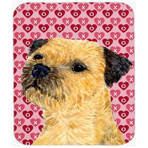 Carolines Treasures LH9143MP Border Terrier Hearts Love And Valentines Day Mouse Pad Hot Pad or Trivet